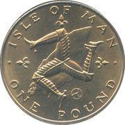 1 Pound - Elizabeth II (2nd portrait) -  reverse