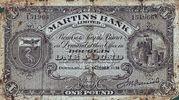 1 Pound (Martins Bank Limited) – obverse