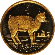 1/25 Crown - Elizabeth II (Manx Cat) – reverse