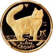 1/25 Crown - Elizabeth II (Norwegian Forest Cat) – reverse