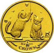 1/25 Crown - Elizabeth II (Somali Cat) – reverse
