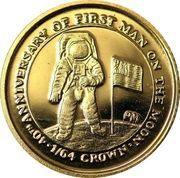 1/64 Crown - Elizabeth II (First Man on the Moon) – reverse
