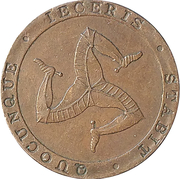 ½ Penny - William Callister (Bank Token Coinage) – obverse