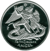 1 Angel - Elizabeth II (3rd portrait) – reverse