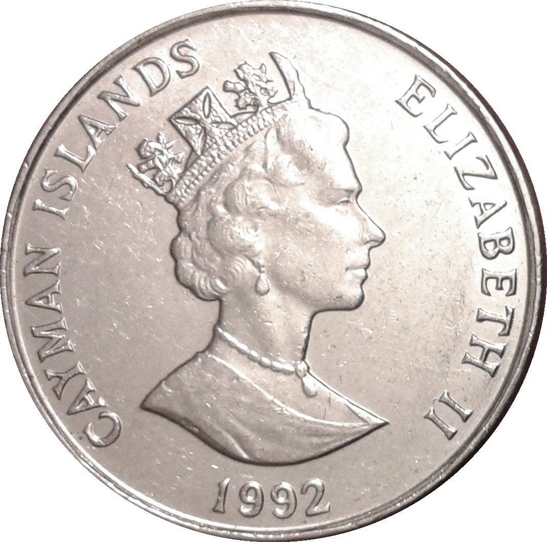 25 Cents Elizabeth Ii 3rd Portrait Magnetic