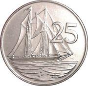 25 Cents - Elizabeth II (3rd portrait; magnetic) – reverse