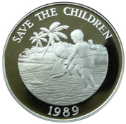 5 Dollars - Elizabeth II (Save the Children) – reverse