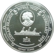 1 Dollar - Elizabeth II (Royal Visit) – reverse