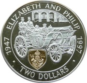 2 Dollars - Elizabeth II (Golden Wedding) – reverse