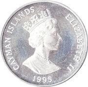 1 Dollar - Elizabeth II (Blue Rock Iguana) – obverse
