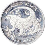 1 Dollar - Elizabeth II (Blue Rock Iguana) – reverse