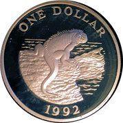 1 Dollar - Elizabeth II (Iguana) – reverse