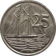 25 Cents - Elizabeth II (3rd portrait) – reverse
