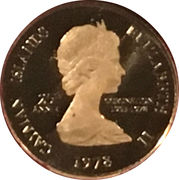 1 Cent - Elizabeth II (25th Anniversary of Coronation) – obverse