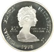 25 Cents - Elizabeth II (25th Anniversary of Coronation) – obverse