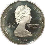 2 Dollars - Elizabeth II (25th Anniversary of Coronation) – obverse