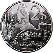 2 Dollars - Elizabeth II (2nd portrait; silver) – reverse