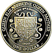 1 Dollar - Elizabeth II (Queen Mother) – reverse