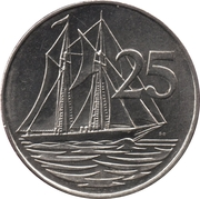 25 Cents - Elizabeth II (4th portrait) -  reverse