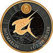 1 Dollar - Elizabeth II (Marlin; Black and Gold) – reverse