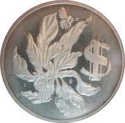 1 Dollar - Elizabeth II (25th Anniversary of Coronation) – reverse