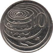 10 Cents - Elizabeth II (4th portrait) – reverse