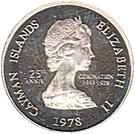 5 Cents -Elizabeth II (25th Anniversary of Coronation) – obverse