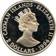 "2 Dollars - Elizabeth II (""Ten Sails"") – obverse"