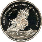 "2 Dollars - Elizabeth II (""Ten Sails"") – reverse"