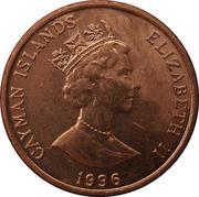 1 Cent - Elizabeth II (3rd portrait; magnetic) – obverse