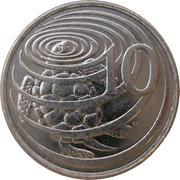 10 Cents - Elizabeth II (3rd portrait; magnetic) -  reverse