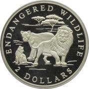 2 Dollars - Elizabeth II (Lion's family) -  reverse
