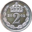2 Pence - Elizabeth II (Maundy Money) – reverse