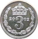 3 Pence - Elizabeth II (Maundy Money) – reverse