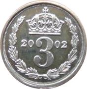 3 Pence - Elizabeth II (Maundy Money) – reverse