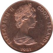 1 Tene - Elizabeth II (2nd portrait; Royal Wedding) – obverse