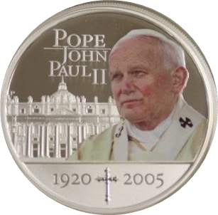 1 Dollar Elizabeth Ii 85th Birthday Of Pope John Paul