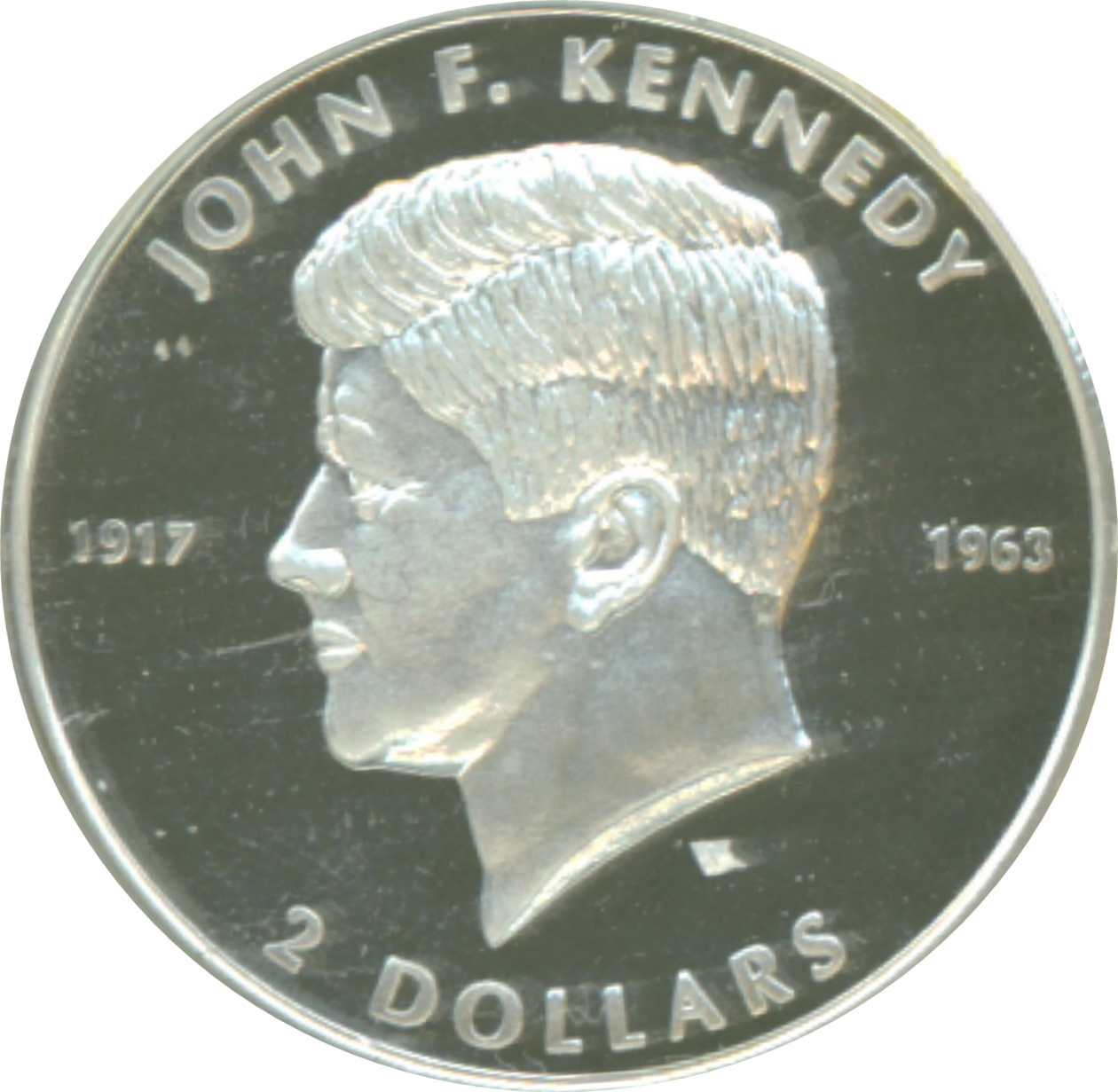 2 Dollars Elizabeth Ii John F Kennedy Cook Islands Numista