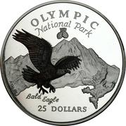 25 Dollars - Elizabeth II (Olympic National Park) -  reverse