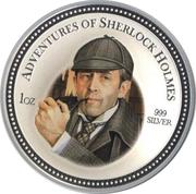2 Dollars - Elizabeth II (Sherlock Holmes) – reverse