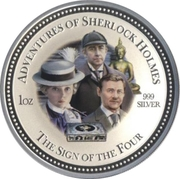 2 Dollars - Elizabeth II (The Sign of the Four) – reverse