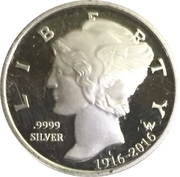 10 Cents - Elizabeth II (100th Anniversary of the Mercury Dime) – reverse