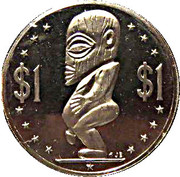 1 Dollar - Elizabeth II (2nd portrait; Captain James Cook) -  obverse