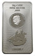 "75 Cents - Elizabeth II (""Bounty"" Silver Bullion) – obverse"