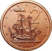2 Cents - Elizabeth II (4th portrait) – reverse