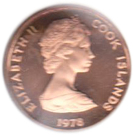2 Tene - Elizabeth II (2nd portrait; James Cook) – obverse