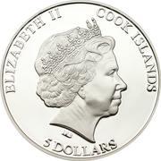 5 Dollars - Elizabeth II (Tutankhamun) – obverse