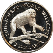 5 Dollars - Elizabeth II (Chimpanzee) -  obverse