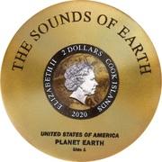 2 Dollars - Elizabeth II (Voyager Golden Record) -  obverse