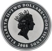 2 Dollars - Elizabeth II (Leopold the Cat) – obverse